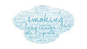 Röka ordmolnet vektor illustrationer