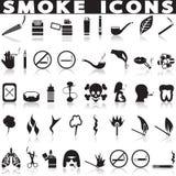 Röka symbolsuppsättningen Arkivfoton