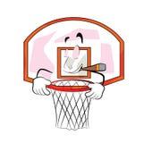 Röka tecknade filmen för basketbeslag Arkivbild