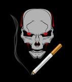 Rökande böjelsejäkel Arkivfoton