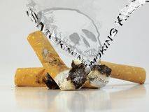 Rökande bytar Royaltyfria Foton