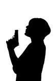 rökande kvinna för tryckspruta vektor illustrationer