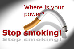 rökande stopp Royaltyfria Foton
