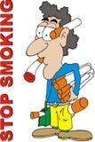 rökande stopp för illustration Arkivbild
