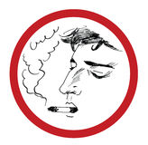 rökande vektor för illustrationman Stock Illustrationer
