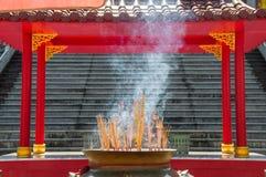 Rökelsegasbrännare på Kina arkivbilder