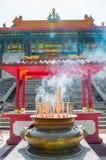 Rökelsegasbrännare på Kina royaltyfri fotografi