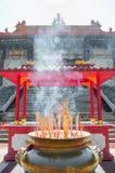 Rökelsegasbrännare på Kina arkivfoto