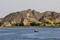 Rökelsegasbrännare på Muttrah Corniche Oman Arkivfoto