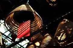 Rökelsespole, man Mo Temple, Hong Kong Royaltyfri Bild