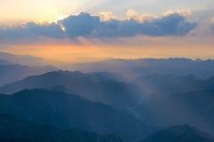 rökig soluppgång tennessee USA för stor bergbergnationalpark Fotografering för Bildbyråer