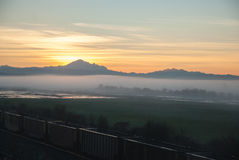 rökig soluppgång tennessee USA för stor bergbergnationalpark Arkivbilder