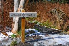 rökig trail USA för appalachian stora berg Arkivbilder