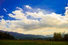Rökiga berg på Gatlinburg område Fotografering för Bildbyråer