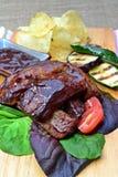 Rökiga grillfeststöd Royaltyfri Bild