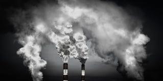 rökiga lampglas Miljöfrågor Arkivfoto
