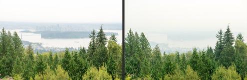 Rökiga Vancouver Royaltyfri Foto