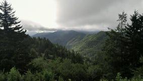 Rökigt berg Ridge Arkivbilder