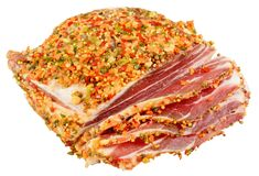 rökt bacon Royaltyfria Bilder