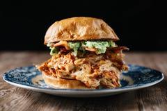 Rökt feg smörgås för BBQ Arkivbild