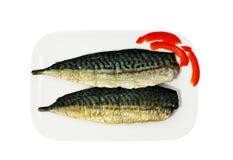 rökt mackerel royaltyfria bilder
