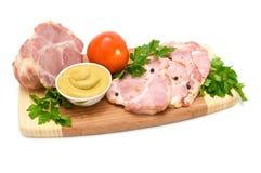 rökta kryddor för meat senap Arkivfoton