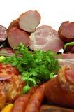 rökta meatprodukter Royaltyfri Fotografi
