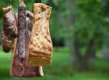 Rökte meatprodukter Royaltyfria Bilder