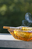 rökyang yin arkivfoton