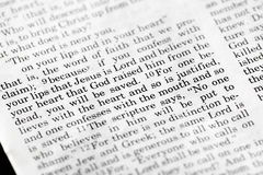 Römer-10:9 Stockfotografie
