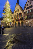 The Römer in Frankfurt am Main in Germany. The Römer in Frankfurt am Main in Germany during Christmas time royalty free stock photo