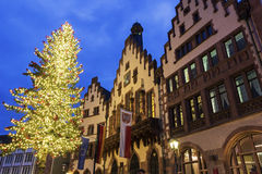 The Römer in Frankfurt am Main in Germany. The Römer in Frankfurt am Main in Germany during Christmas time stock image
