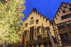 The Römer in Frankfurt am Main in Germany. The Römer in Frankfurt am Main in Germany during Christmas time stock photos