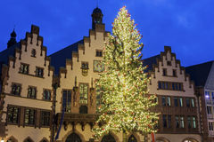 The Römer in Frankfurt am Main in Germany. The Römer in Frankfurt am Main in Germany during Christmas time stock photo