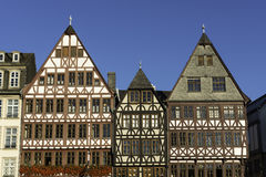 Römerberg, Frankfurt. Traditional half-timbered German houses at Römerberg, the historic center of Frankfurt Royalty Free Stock Image