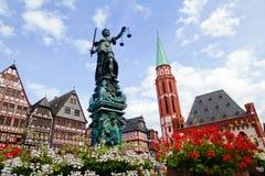 Römerberg w Frankfurt, Niemcy Obrazy Stock