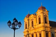 Römisch-katholische Episkopale Kirche im Unirii Quadrat Stockfoto