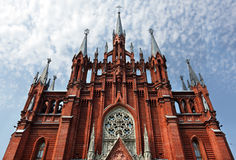 Römisch-katholische Kathedrale in Moskau, Russland. Lizenzfreie Stockfotos
