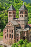 Römische Abtei von Murbach in Elsass Stockbild