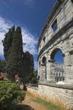 Römische Arena in den Pula Lizenzfreies Stockfoto