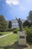 Römische Arena in den Pula Lizenzfreies Stockbild