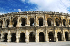 Römische Arena in Nimes Frankreich Lizenzfreie Stockfotografie
