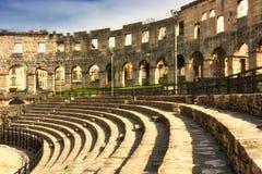 Römische Arena, Pula, Kroatien Stockfotos