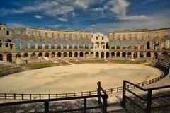 Römische Arena, Pula, Kroatien Stockbilder