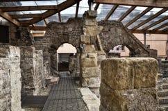Römische Bäder in Spanien, Caldes de Malavella Stockfotografie