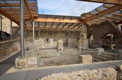 Römische Bäder in Spanien, Caldes de Malavella stockbild