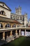 Römische Bäder u. Bad-Abtei - Bad - England Lizenzfreies Stockfoto