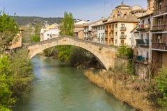 Römische Brücke über Fluss Ega in Estella lizenzfreie stockfotos