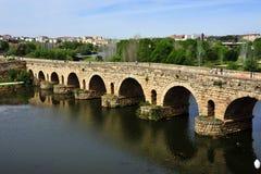 Römische Brücke stockbilder