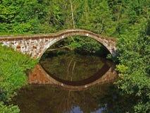 Römische Brücke, Motherwell lizenzfreie stockbilder